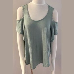 Express Cold Shoulder Short Sleeve Tee Shirt Top S